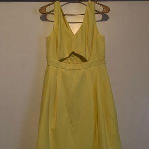 Forever 21 Yellow Keyhole Dress